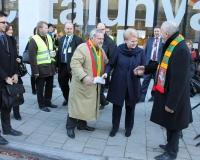 Akimirkos iš Baltijos šalių žemdirbių protesto Briuselyje