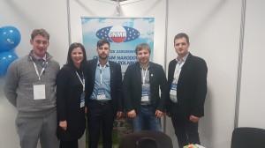 Jannes Maes - ES jaunujų ukininkų tarybos CEJA viceprezidentas, LJŪJS narė Agnė, Slovėnijos jaunųjų ūkininkų sajungos atstovas Miloch, LJŪJS tarptautinių projektų atstovas Marijus ir LJŪJS vicepirmininkas Vytautas.